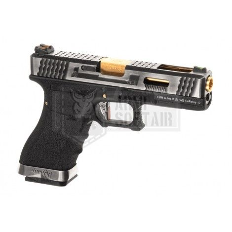WE G17 Custom SV Gold GBB GAS BLOWBACK METAL NERA BLACK - WE