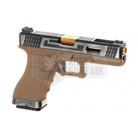 WE G17 Custom SV Gold GBB GAS BLOWBACK METAL TAN - WE