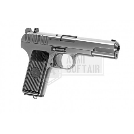 WE TOKAREV TT-33 GBB GAS BLOWBACK METAL ARGENTO SILVER - WE