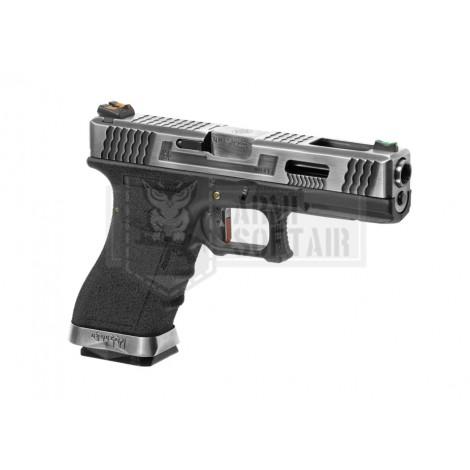 WE G17 Custom SV Silver GBB GAS BLOWBACK METAL NERA BLACK - WE