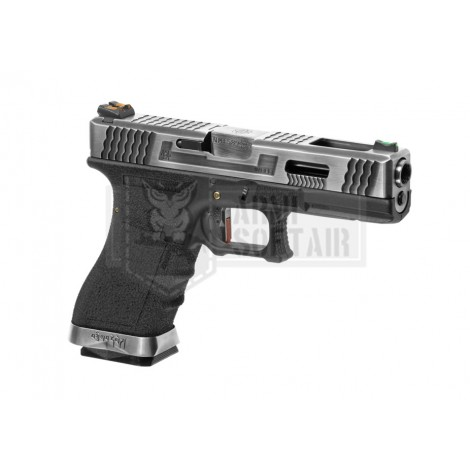 WE G17 Custom SV Silver GBB GAS BLOWBACK METAL NERA BLACK - WE