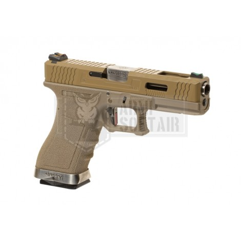 WE G17 V2 Custom GBB GAS BLOWBACK METAL TAN - WE