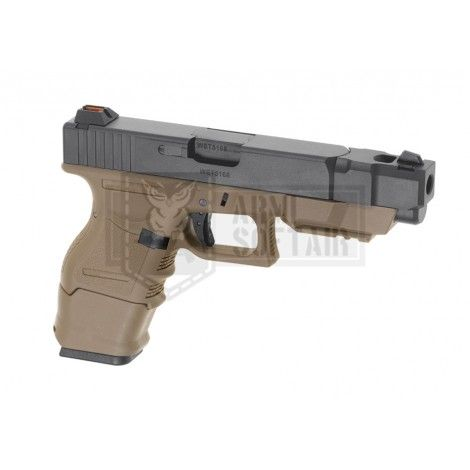 WE G26C Advanced Version GBB GAS BLOWBACK METAL TAN / NERA BLACK - WE
