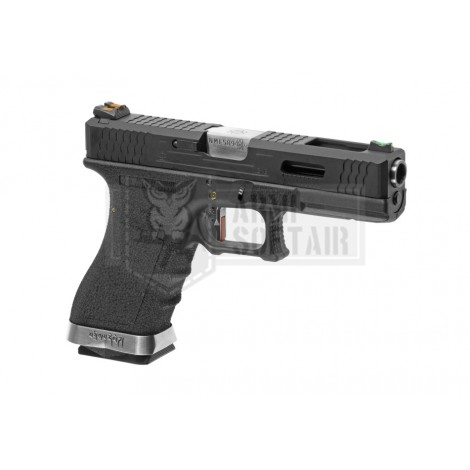 WE G18 C Custom BK Silver Barrel GBB GAS BLOWBACK METAL NERA BLACK - WE