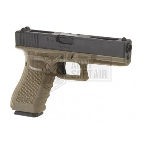 WE G18C GEN4 GBB GAS BLOWBACK METAL TAN / NERA BLACK - WE