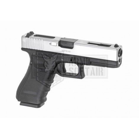 WE G18C GEN4 GBB GAS BLOWBACK METAL ARGENTO / NERA BLACK - WE