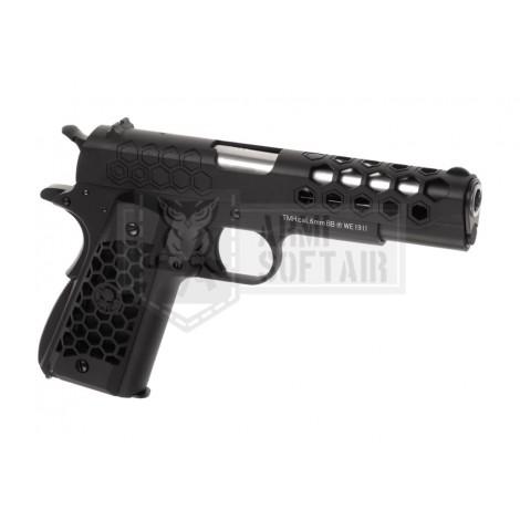 WE M1911 Hex Cut GBB GAS BLOWBACK METAL ARGENTO / NERA BLACK - WE