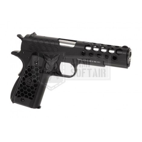 WE M1911 Hex Cut GBB GAS BLOWBACK METAL ARGENTO / NERA BLACK - WE