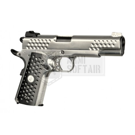 WE 1911 Knight Hawk GBB GAS BLOWBACK METAL ARGENTO SILVER - WE
