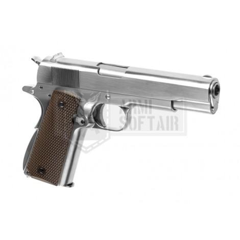 WE M1911 V3 GBB GAS BLOWBACK METAL ARGENTO SILVER - WE