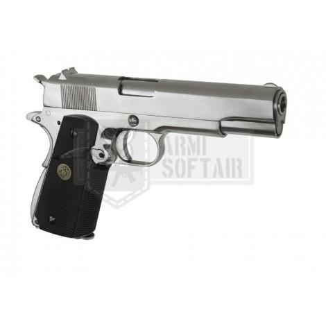 WE M1911 MEU V3 GBB GAS BLOWBACK METAL ARGENTO SILVER - WE