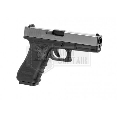 WE G17 GEN 4 GBB GAS BLOWBACK METAL NERA BLACK / SILVER - WE