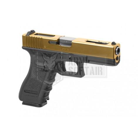 WE G18 C GEN 3 GBB GAS BLOWBACK METAL NERA BLACK / GOLD - WE