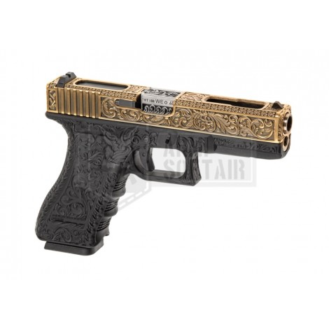 WE G18 C Etched MEXICAN GBB GAS BLOWBACK METAL NERA BLACK / GOLD - WE