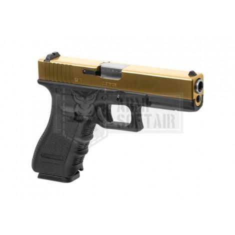 WE G17 GEN 3 GBB GAS BLOWBACK METAL NERA BLACK / GOLD - WE