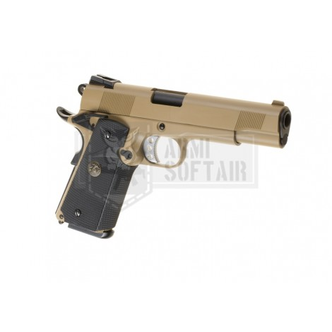 WE M1911 MEU GBB GAS BLOWBACK METAL TAN / NERA BLACK - WE