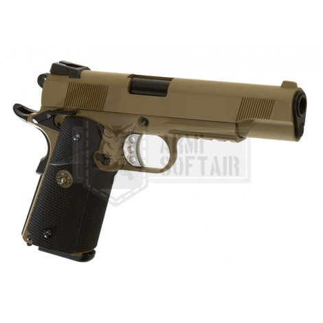 WE M1911 MEU Tactical GBB GAS BLOWBACK METAL TAN / NERA BLACK - WE