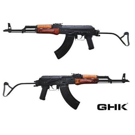 GHK AK GIMS GREEN GAS BLOWBACK GBB FULL METAL E VERO LEGNO - GHK