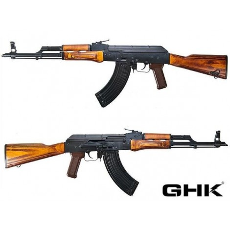GHK AK AKM GREEN GAS BLOWBACK GBB FULL METAL E VERO LEGNO - GHK