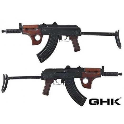 GHK AK AKMSU GREEN GAS BLOWBACK GBB FULL METAL E VERO LEGNO - GHK