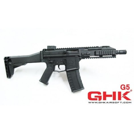 GHK G5 SCORPION GREEN GAS BLOWBACK GBB NERO BLACK - GHK