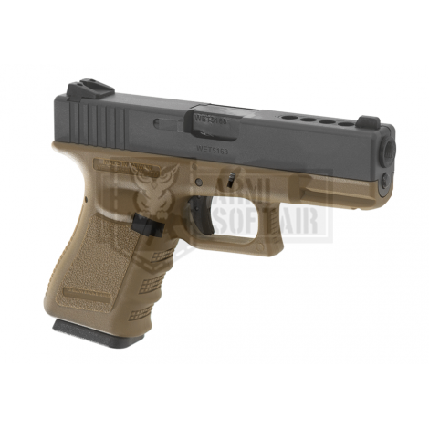 WE G23 GBB GAS BLOWBACK METAL TAN / NERA BLACK - WE