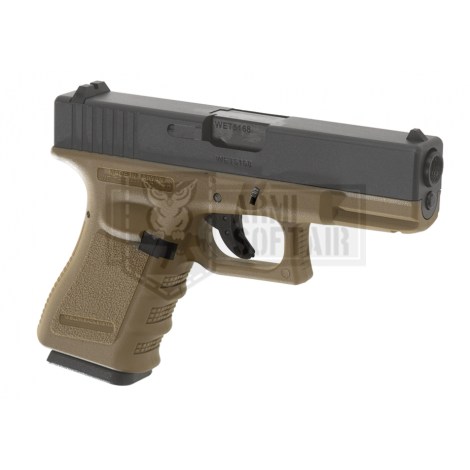 WE G19 GEN 3 GBB GAS BLOWBACK METAL TAN / NERA BLACK - WE