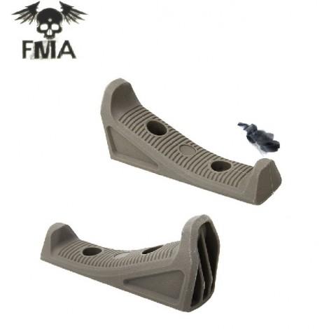 FMA FFG3 M-LOK IMPUGNATURA FRONTALE ANGOLATA SLIM DARK EARTH ( TB1060 DE ) - FMA