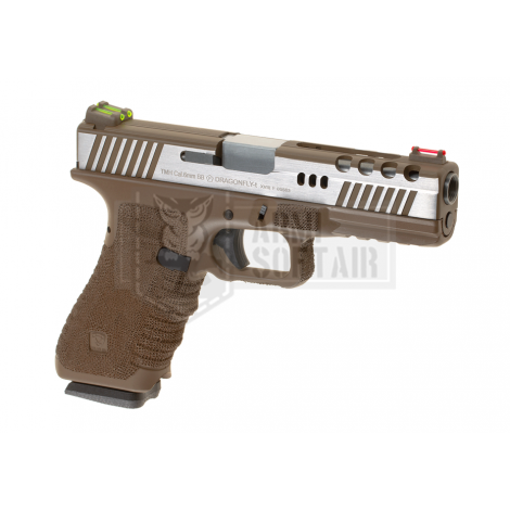 APS D-Mod DRAGONFLY G17 GBB GAS & CO2 BLOWBACK METAL TAN - APS