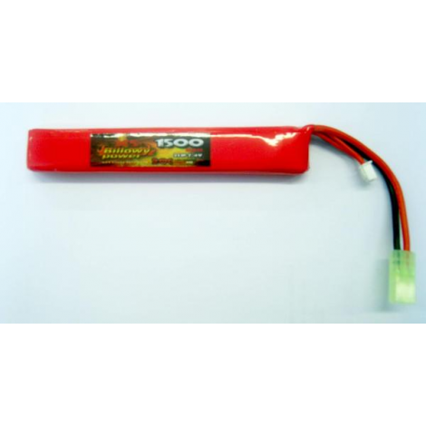 BILLOWY POWER BATTERIA LIPO 7.4 V X 1500 mHA 20C LONG DA TUBO - BILLOWY POWER