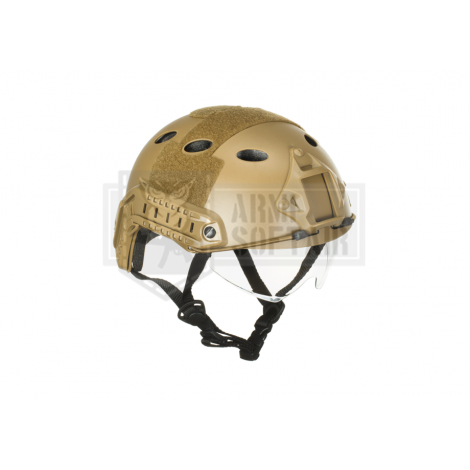 EMERSON ELMETTO HELMET FAST PJ GOOGLE CON LENTI VERSION TAN - EMERSON