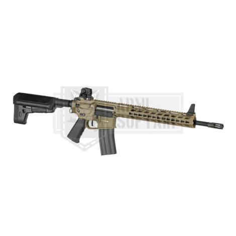KRYTAC FUCILE ELETTRICO ASG AEG M4 TRIDENT MK2 SPR / PDW BUNDLE TAN DE - KRYTAC