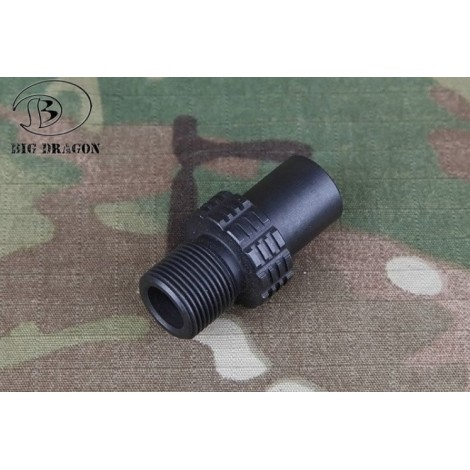 BIG DRAGON ADATTATORE SILENZIATORE PER MP7 CW A 14MM CCW BD3957 - BIG DRAGON
