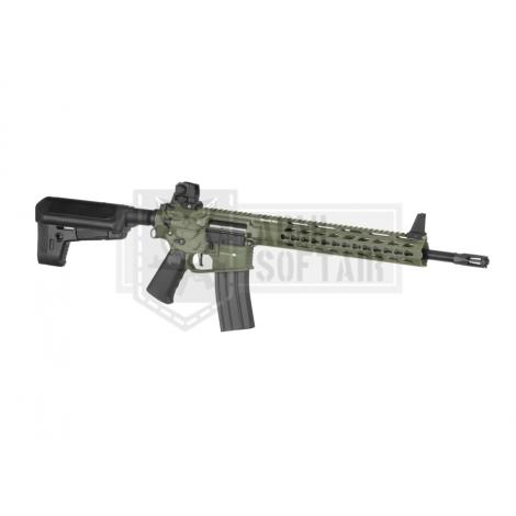 KRYTAC FUCILE ELETTRICO ASG AEG M4 TRIDENT MK2 SPR VERDE FOLIAGE GREEN - KRYTAC