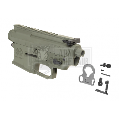 KRYTAC BODY COMPLETO IN METALLO M4 TRIDENT MK2 RECEIVER SET VERDE FOLIAGE GREEN - KRYTAC
