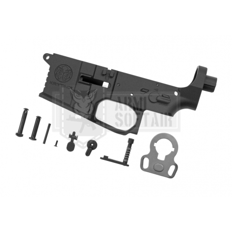 KRYTAC LOWER BODY IN METALLO M4 TRIDENT MK2 RECEIVER SET NERO BLACK - KRYTAC