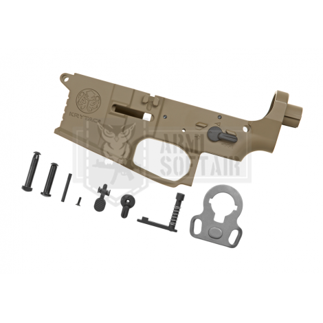 KRYTAC LOWER BODY IN METALLO M4 TRIDENT MK2 RECEIVER SET FDE TAN - KRYTAC