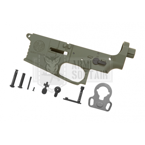 KRYTAC LOWER BODY IN METALLO M4 TRIDENT MK2 RECEIVER SET VERDE FOLIAGE GREEN - KRYTAC