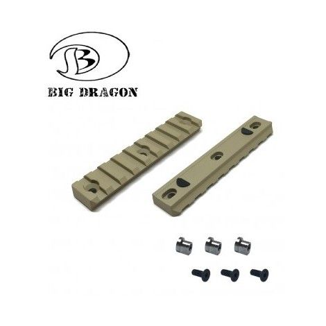 BIG DRAGON SLITTA NOV NSR TYPE 9 SLOTS RAIL DARK EARTH TAN PER KEYMOD BIG DRAGON ( BD9175A ) - BIG DRAGON