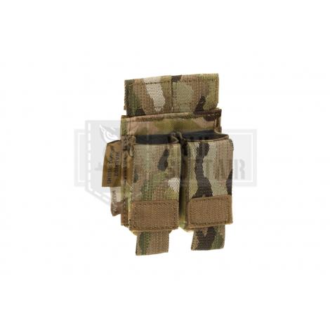 WARRIOR ASSAULT SYSTEM ELITE OPS TASCA CARICATORE PISTOLA Direct Action Double Pistol Mag Pouch 9mm MULTICAM MC - WARRIOR ass...