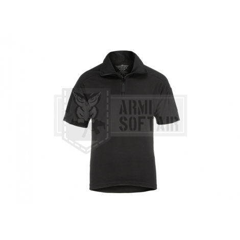 INVADER GEAR MAGLIA COMBAT MANICHE CORTE ESTIVA SHIRT SHORT SLEEVE NERA BLACK - INVADER GEAR