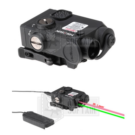 HOLOSUN AN PEQ COLLIMATORE LS221G Co-Axial Laser Green + IR POLIGONO AIRSOFT - HOLOSUN