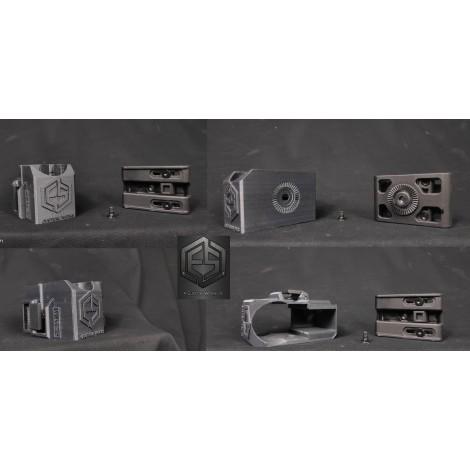E.S CUSTOM HOLSTER MK 23 FONDINA MK23 RIGIDA SGANCIO RAPIDO PER MANCINI ( LEFT ) ATTACCO CINTURONE - E.S CUSTOM WORKS 100% ma...