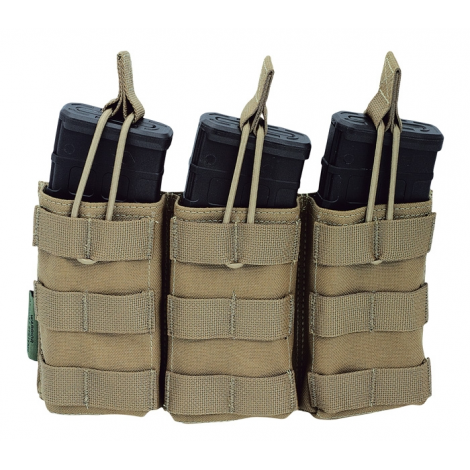 WARRIOR ASSAULT SYSTEM ELITE OPS TASCA TRIPLE OPEN MAG POUCH COYOTE M4/AR15 - WARRIOR assault system