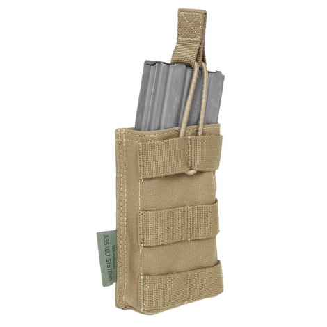 WARRIOR ASSAULT SYSTEM ELITE OPS TASCA CARICATORE M4/AR15 MAG SINGLE OPEN POUCH 5.56 COYOTE TAN CB - WARRIOR assault system