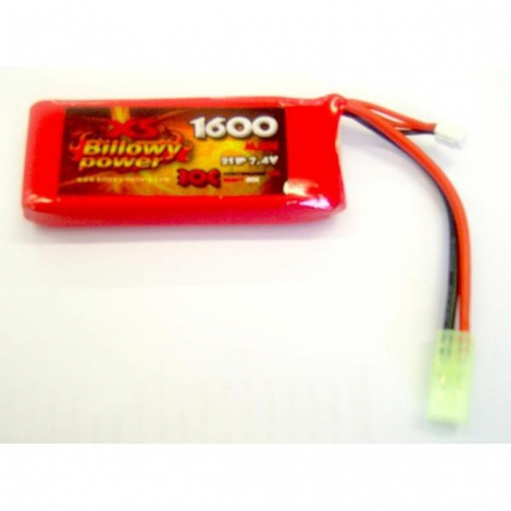 BILLOWY POWER BATTERIA LIPO 7.4 V X 1600 mHA 30C PANETTO RETTANGOLARE - BILLOWY POWER