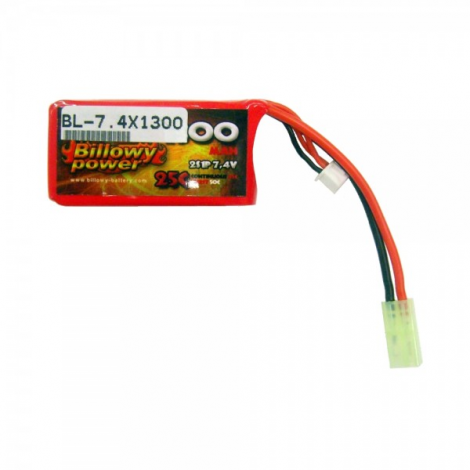 BILLOWY POWER BATTERIA LIPO 7.4 V X 1600 mHA 30C PANETTO RETTANGOLARE PEQ - BILLOWY POWER