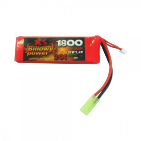 BILLOWY POWER BATTERIA LIPO 7.4 V X 1800 mHA 20C PANETTO RETTANGOLARE - BILLOWY POWER