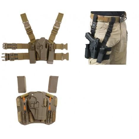 8 FIELDS FONDINA COSCIALE BERETTA M9 98 92 IN POLIMERO SGANCIO RAPIDO QD TAN DESERT - 8 FIELDS
