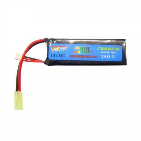 E-POWER BATTERIA LIPO 7.4 X 2200 20C RETTANGOLARE - E-POWER